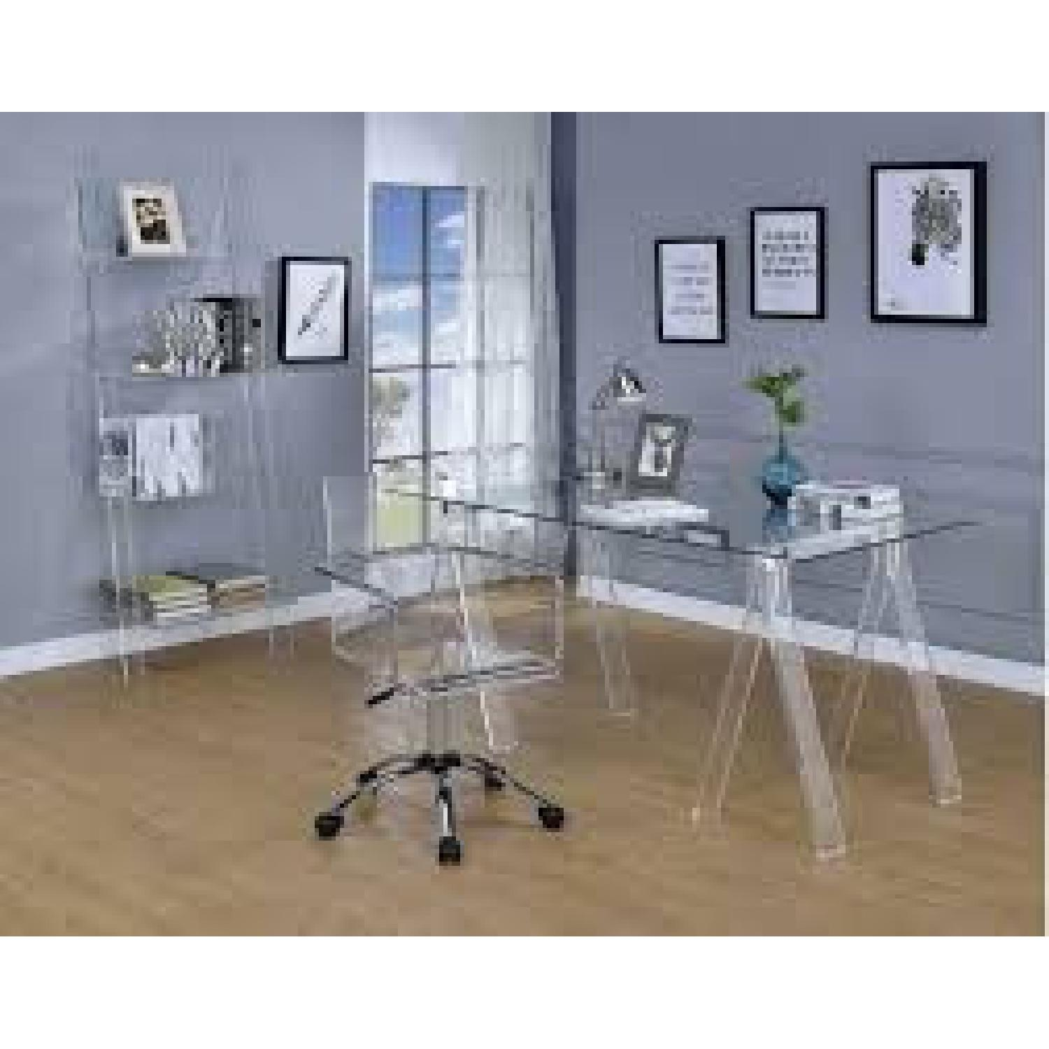 Clear Acrylic Office Chair - image-2