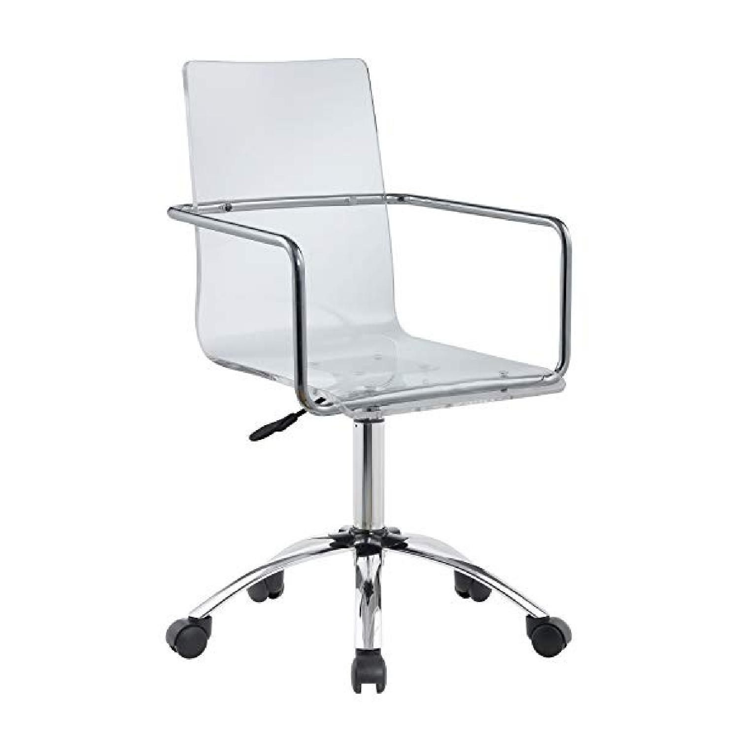 Clear Acrylic Office Chair - image-0