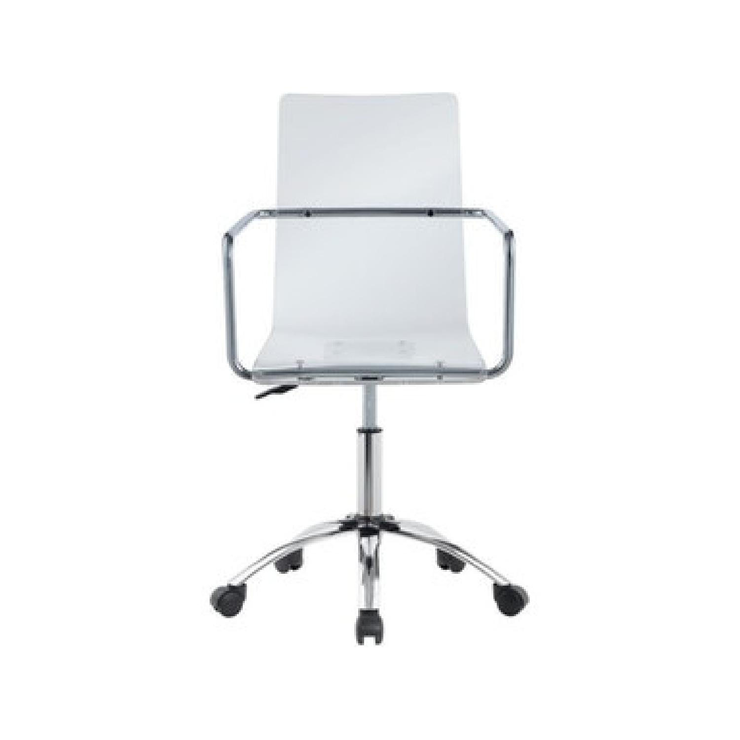 Clear Acrylic Office Chair - image-1