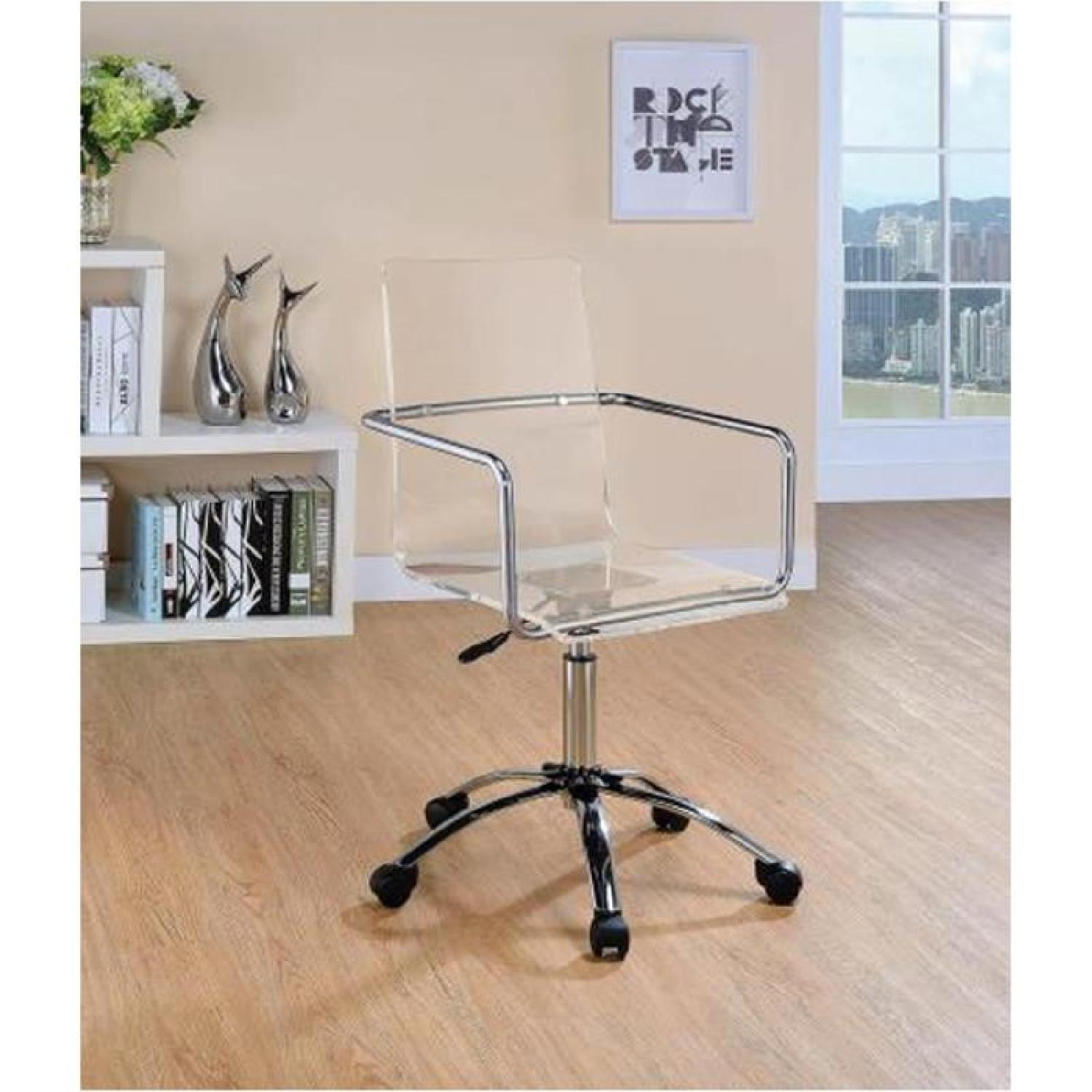 Clear Acrylic Office Chair - image-4
