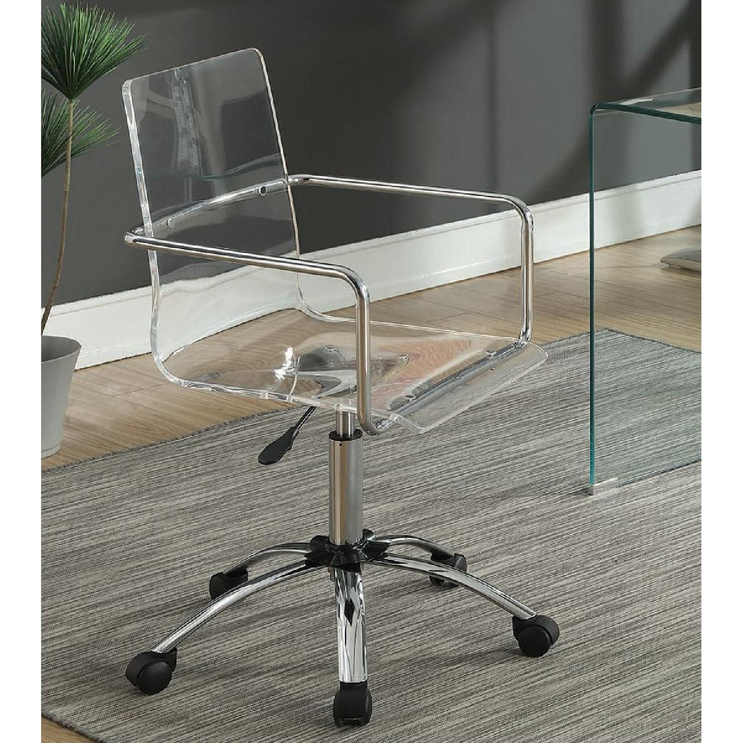 Clear Acrylic Office Chair - image-5