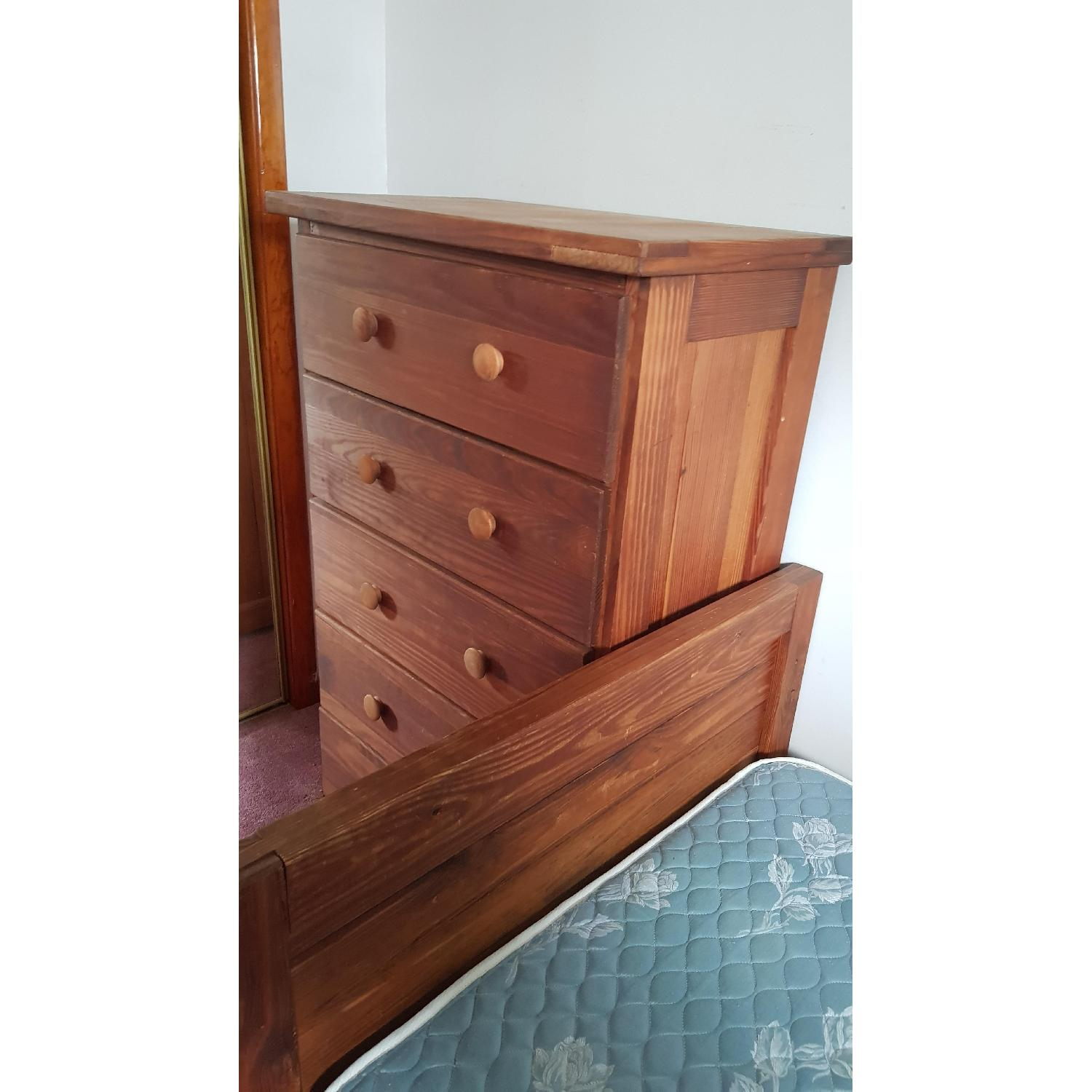 Solid Wood 5 Drawer Chest - image-2