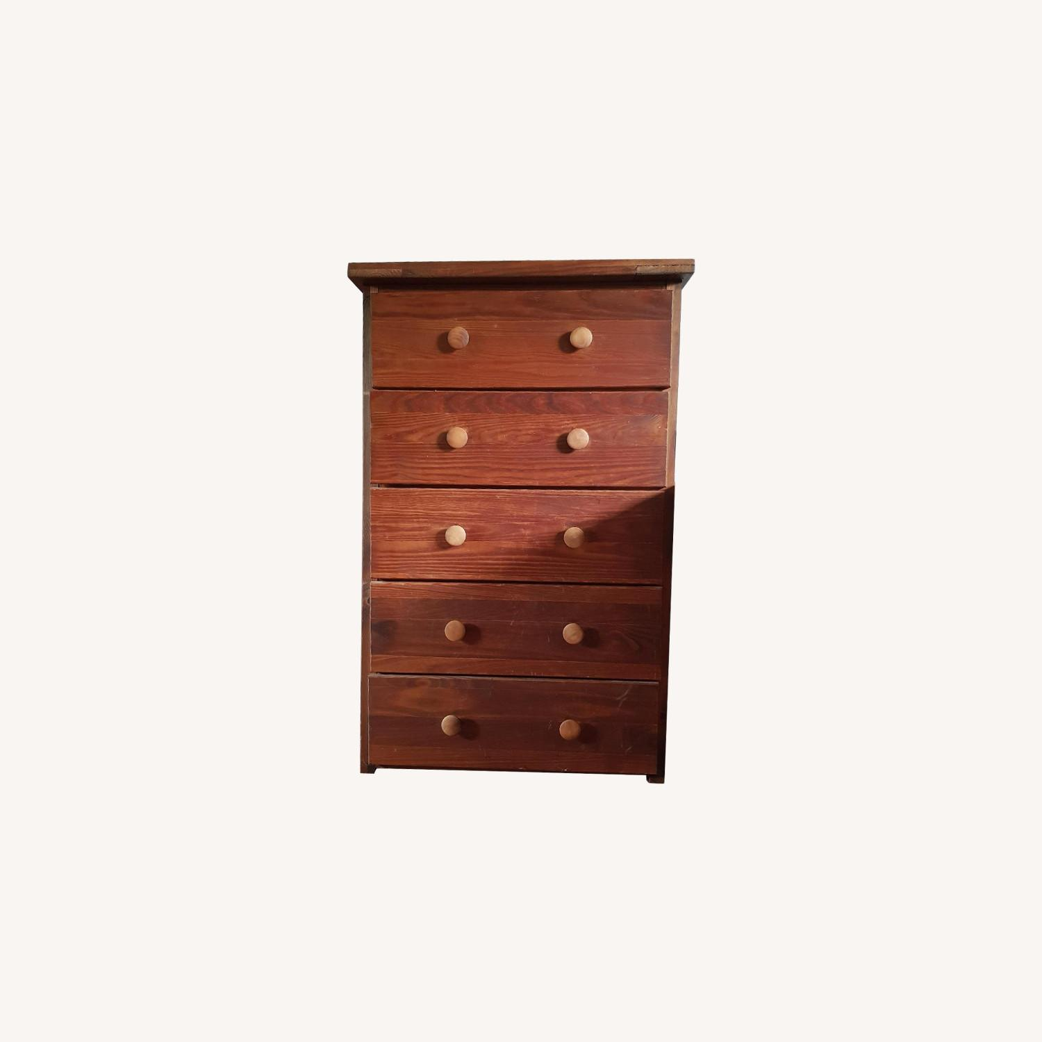 Solid Wood 5 Drawer Chest - image-0