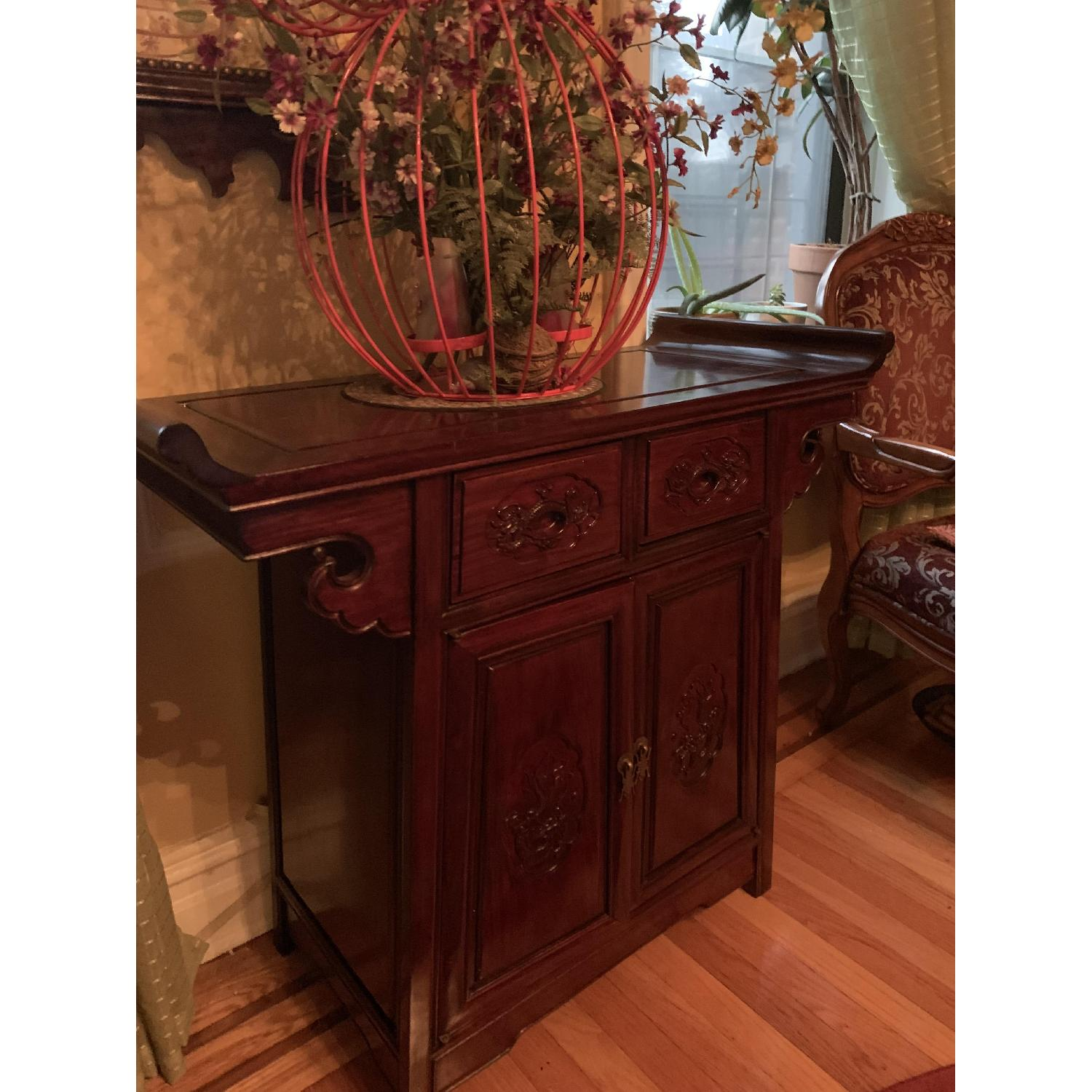 Oriental Rosewood Altar Cabinet - image-1