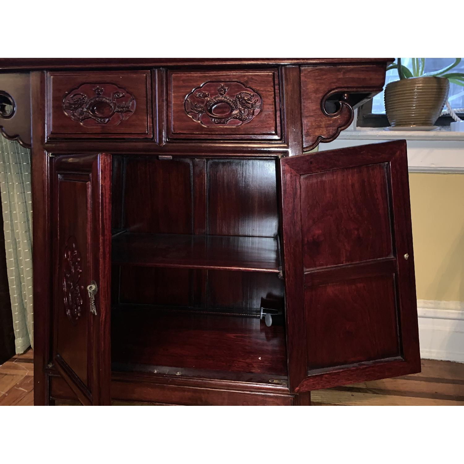 Oriental Rosewood Altar Cabinet - image-2