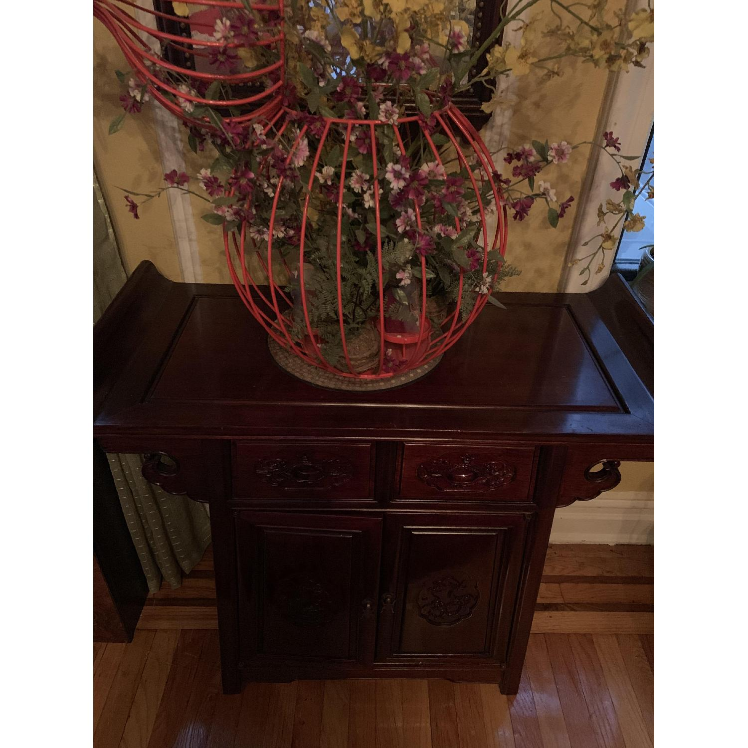 Oriental Rosewood Altar Cabinet - image-3