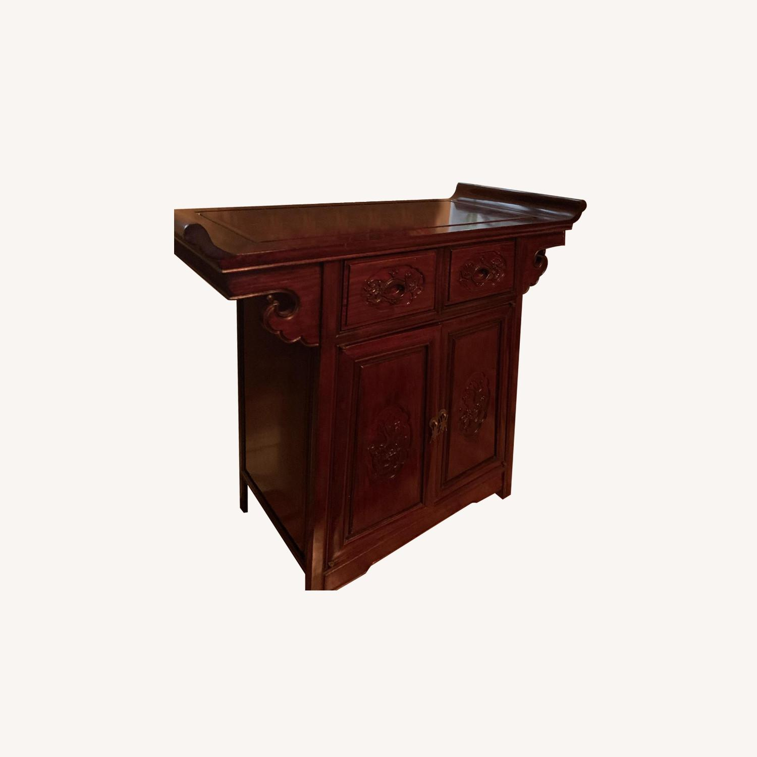 Oriental Rosewood Altar Cabinet - image-0