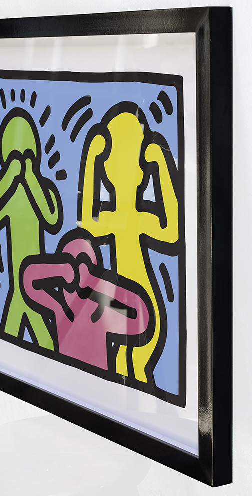 See No Evil, Hear No Evil, Speak No Evil by Keith Haring