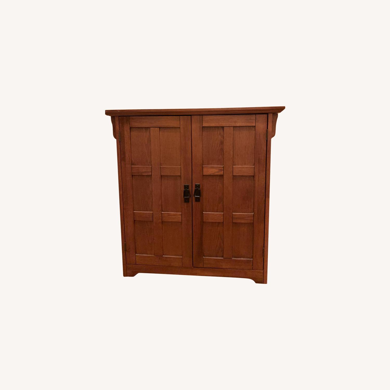Wooden 42 Pair Shoe Cabinet