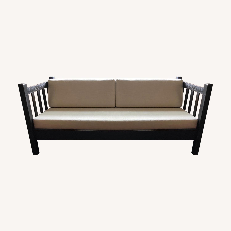 Antique Mission Sofa w/ Custom Cushions