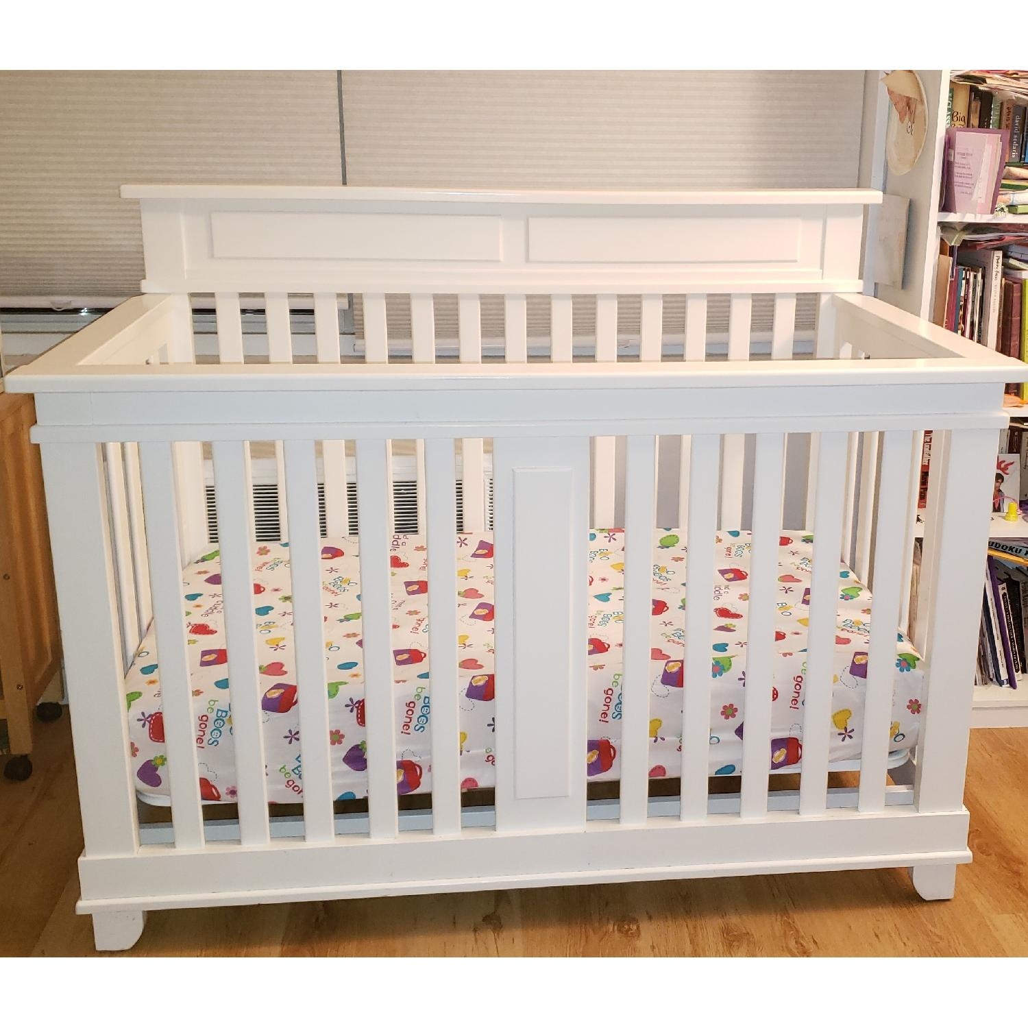 Pali Torino Forever 4-in-1 Convertible Crib in White - AptDeco