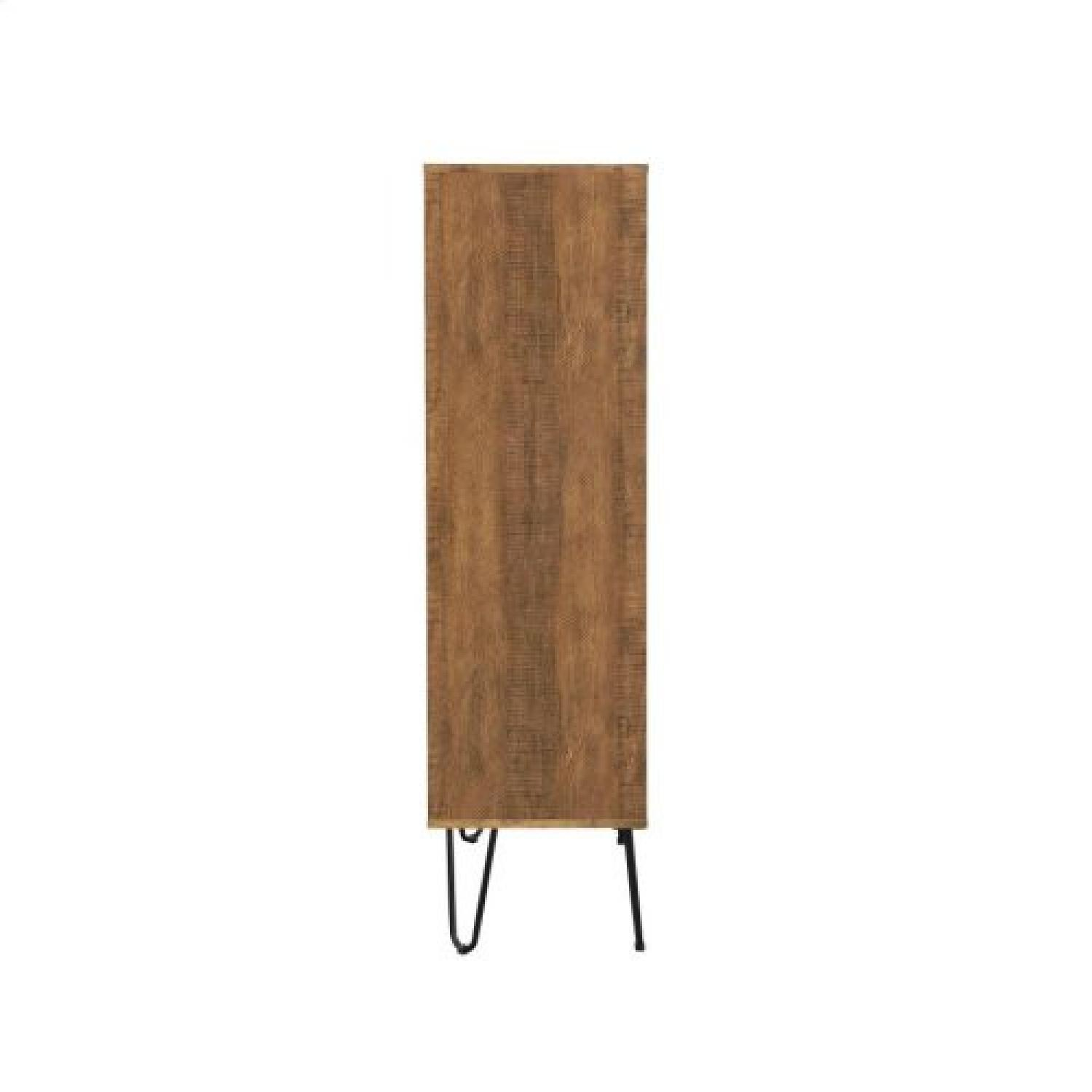 Rustic Amber Bookcase w/ Hair Pin Legs - image-1