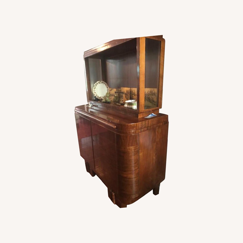Vintage Art Deco Buffet w/ Hutch