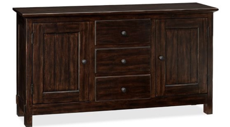 Pottery Barn Dark Wood Buffet/Credenza