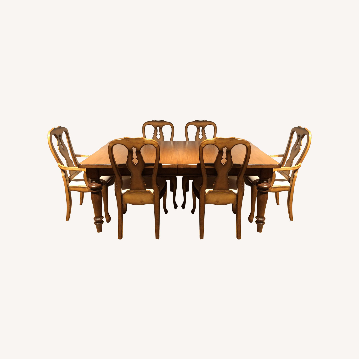 Pottery Barn Extension Dining Table w/ 6 Chairs