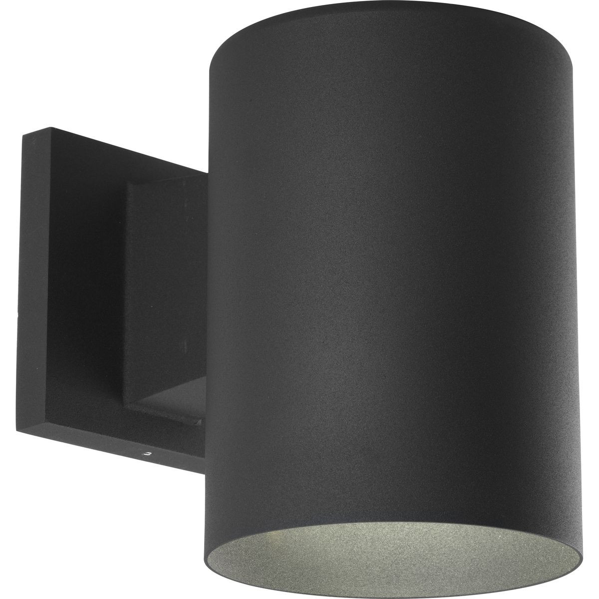 Progress Lighting Black Outdoor Wall Cylinder