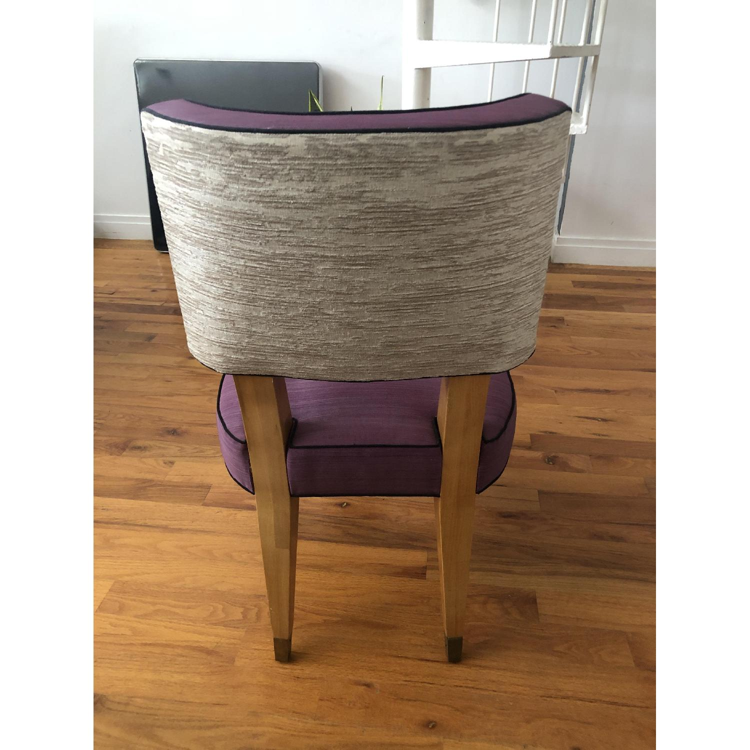 Vintage Purple Button Tufted Dining Chairs - image-2