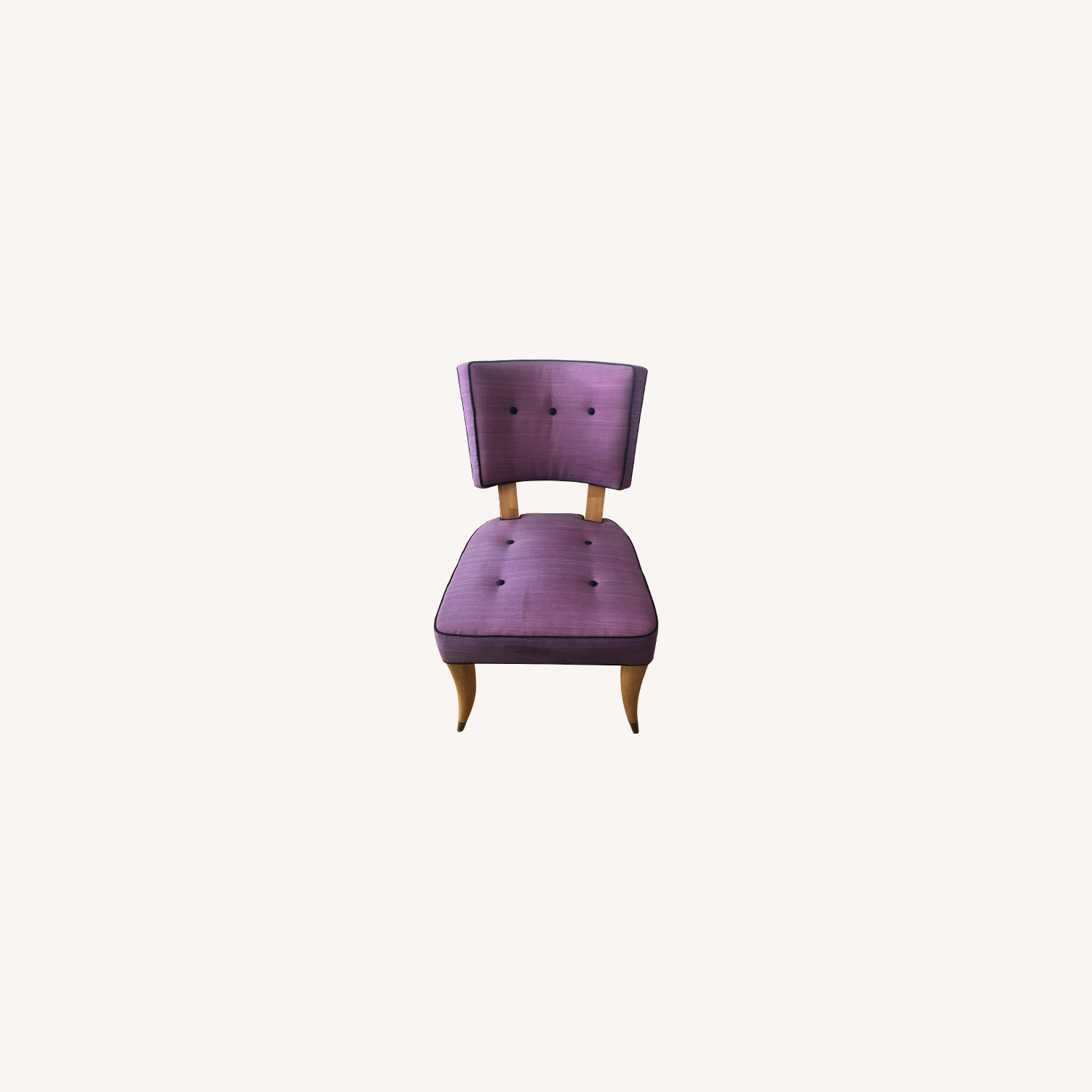 Vintage Purple Button Tufted Dining Chairs