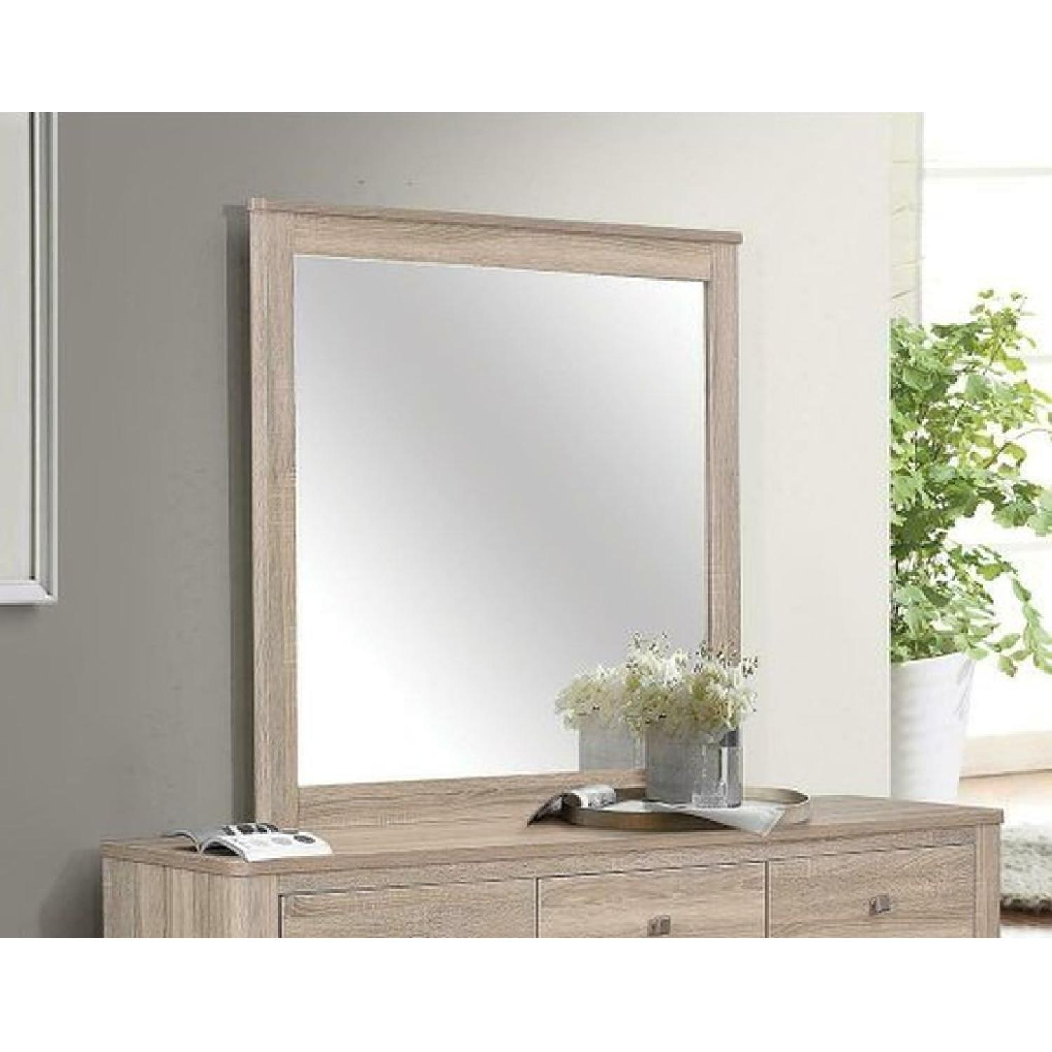 Mirror w/ Natural Finish Frame - image-1