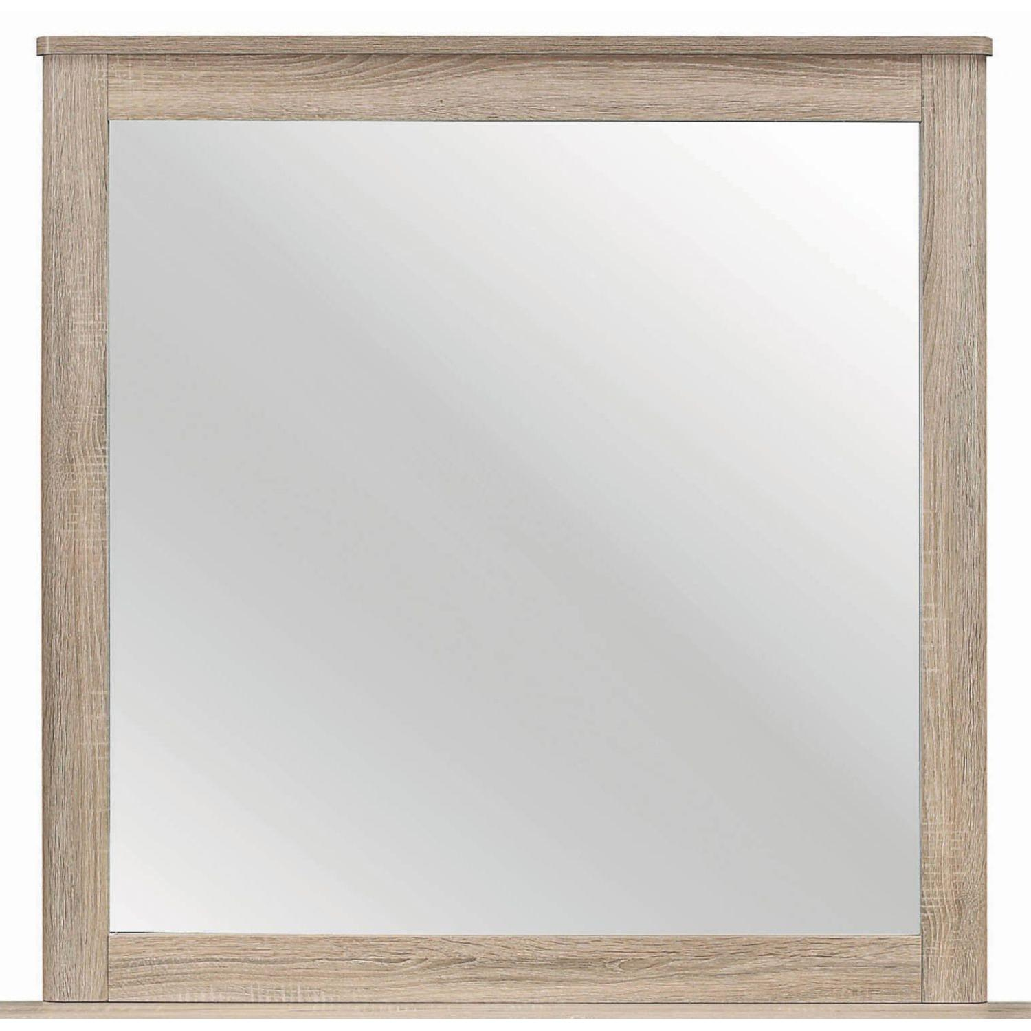 Mirror w/ Natural Finish Frame - image-0