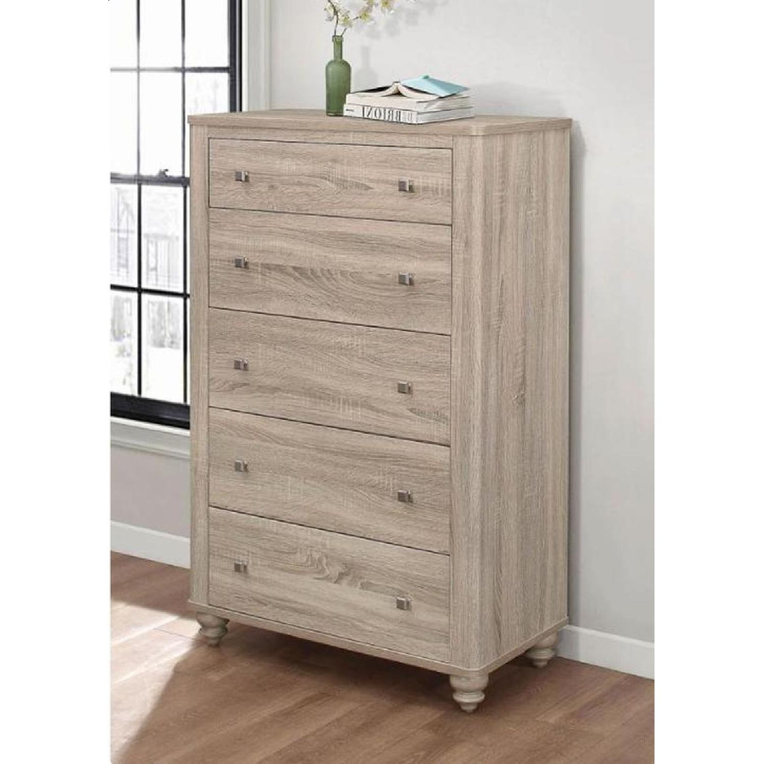 5-Drawer Chest in Natural Finish - image-4