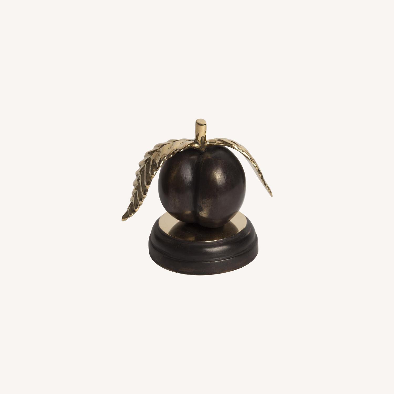 Peach Bronze Sculpture - image-0