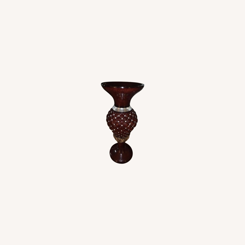Dark Brown Mahogany Vase