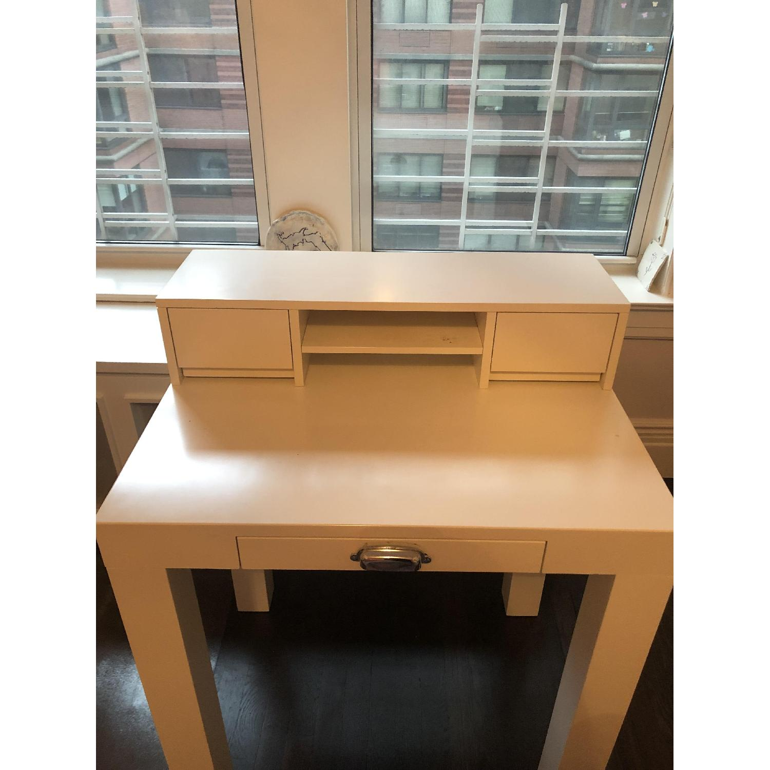 Pottery Barn Mini Parsons Desk w/ Hutch - image-1