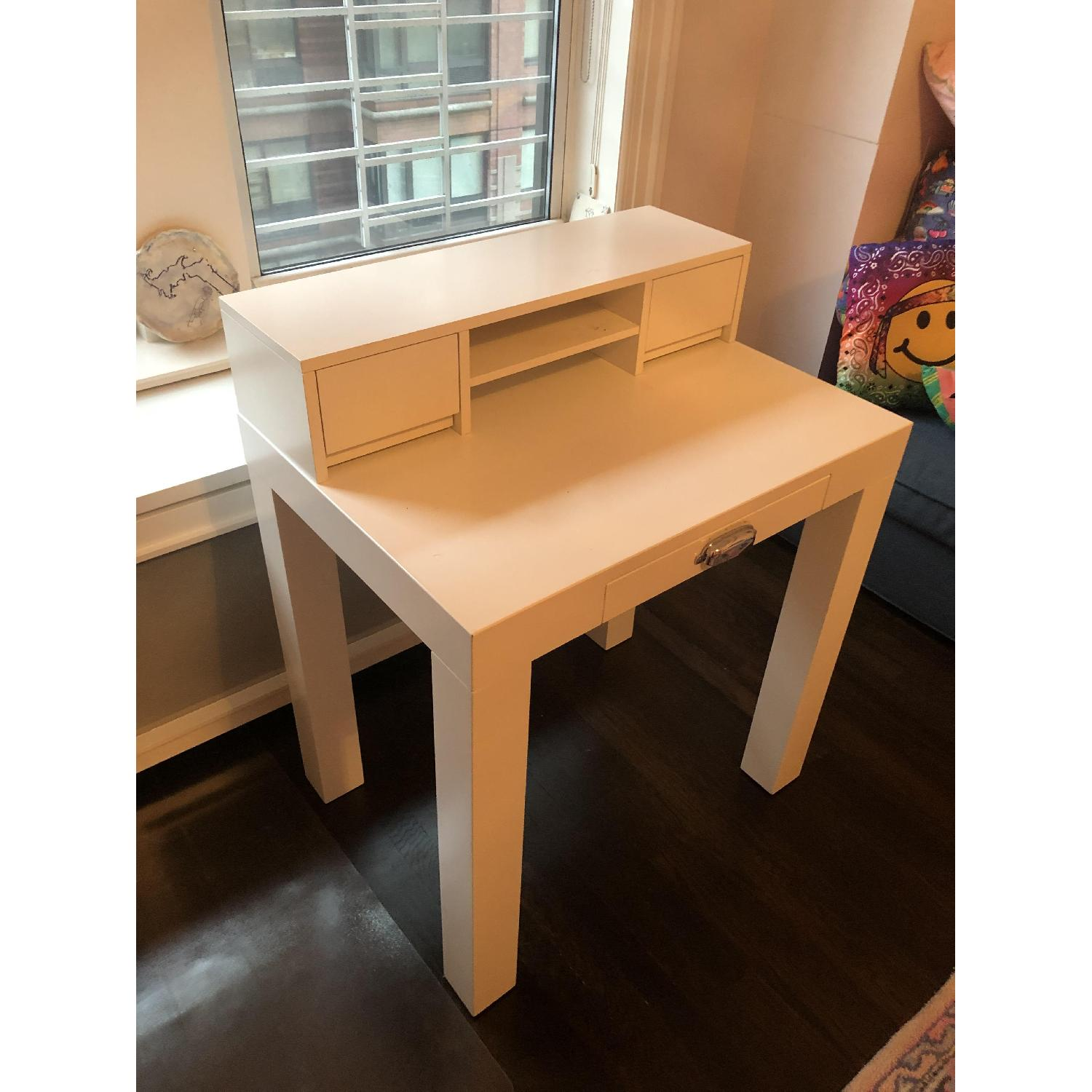 Pottery Barn Mini Parsons Desk w/ Hutch - image-3