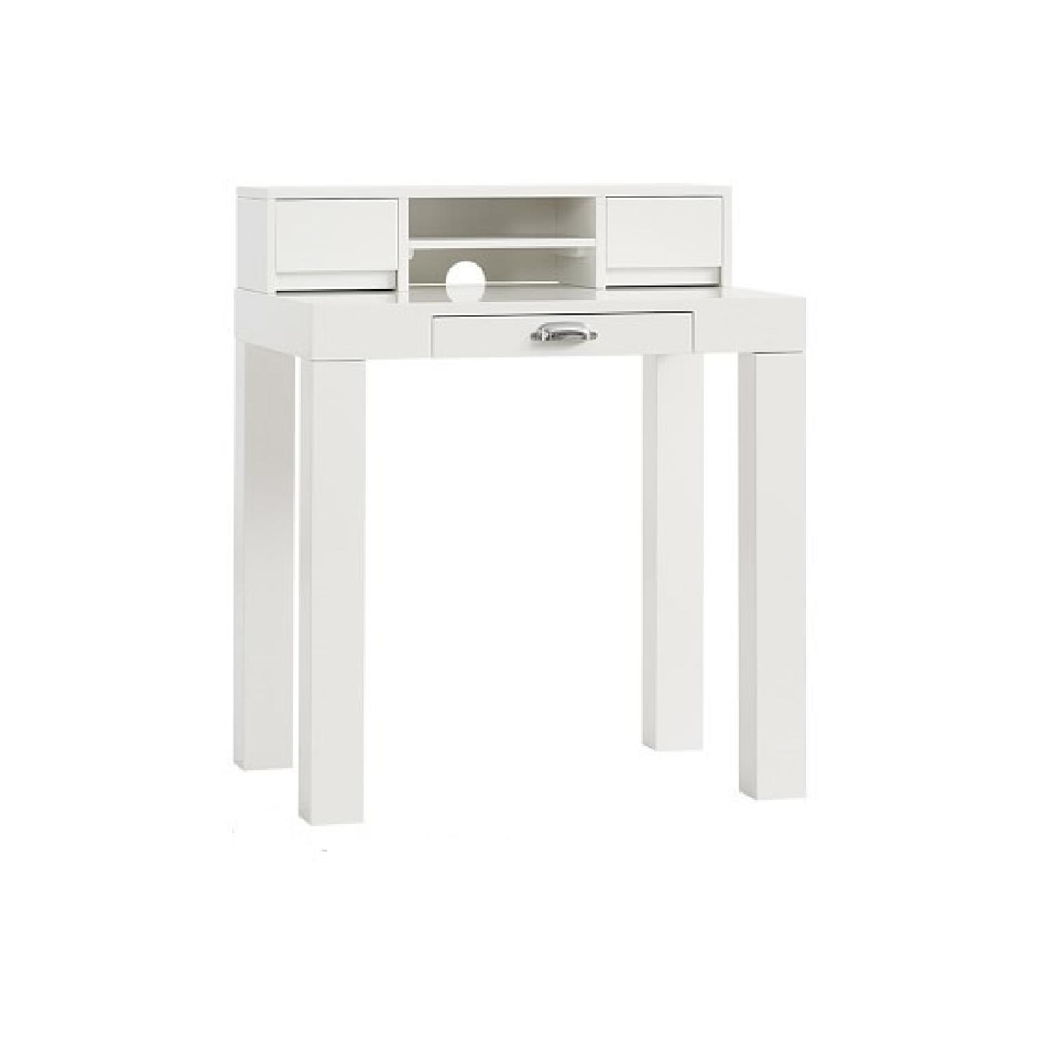 Pottery Barn Mini Parsons Desk w/ Hutch - image-0