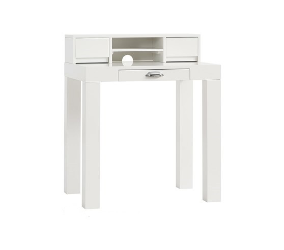 Pottery Barn Mini Parsons Desk w/ Hutch