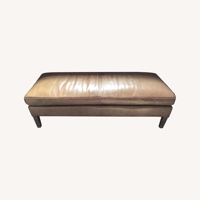 Restoration Hardware Leather Bench