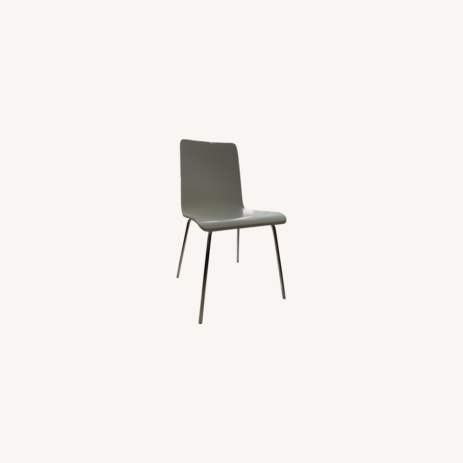 CB2 White Dining Chairs
