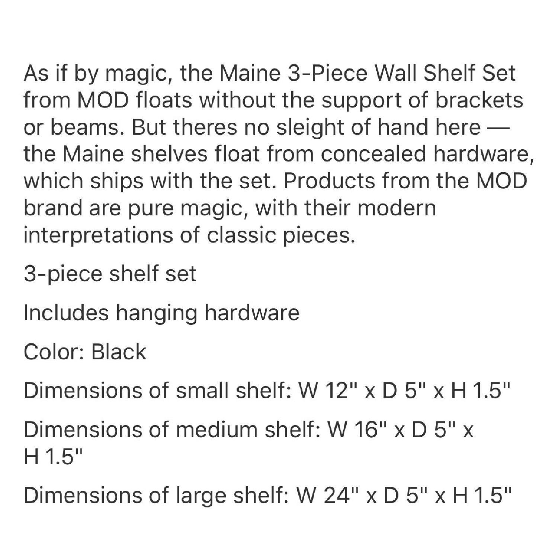 Black Floating Shelves - image-3