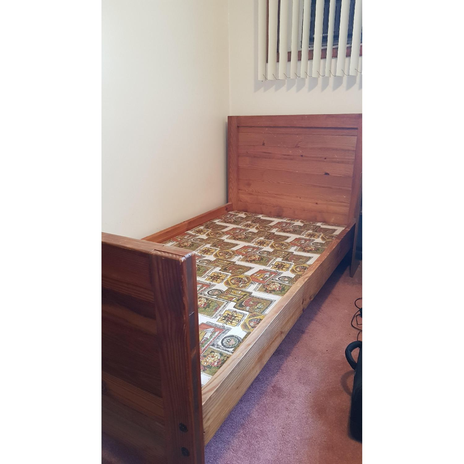 Solid Wood Twin Bed Frame - image-1