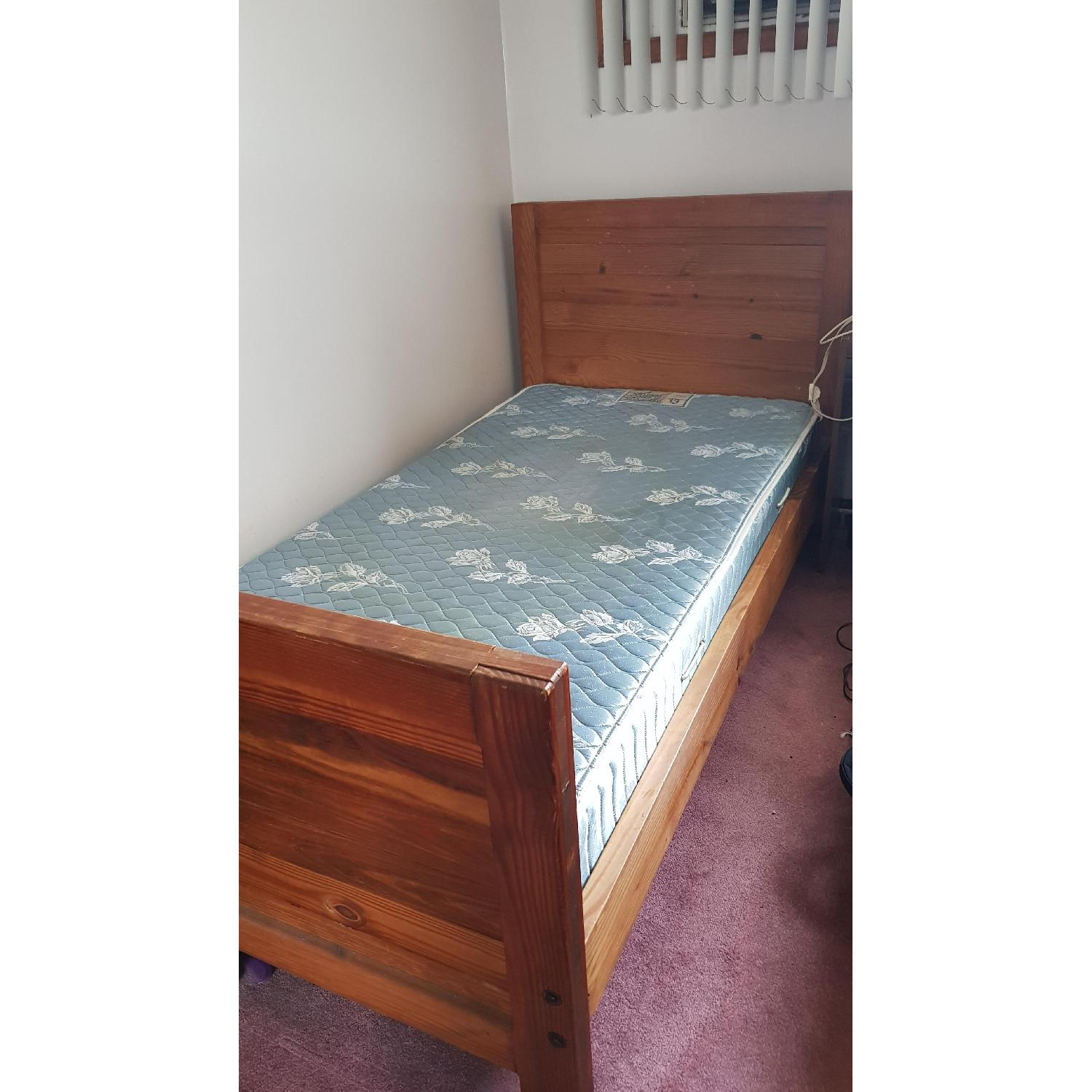 Solid Wood Twin Bed Frame - image-2