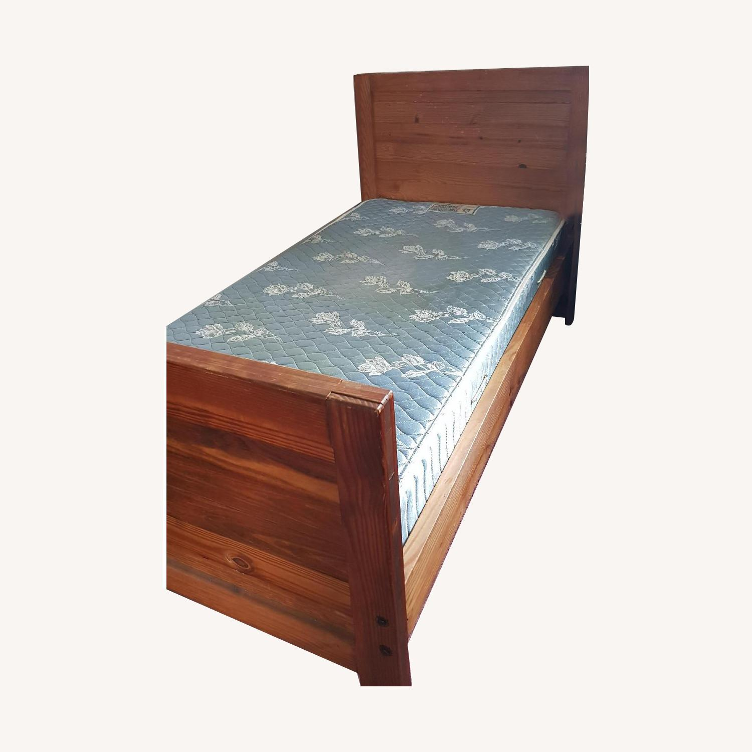 Solid Wood Twin Bed Frame - image-3