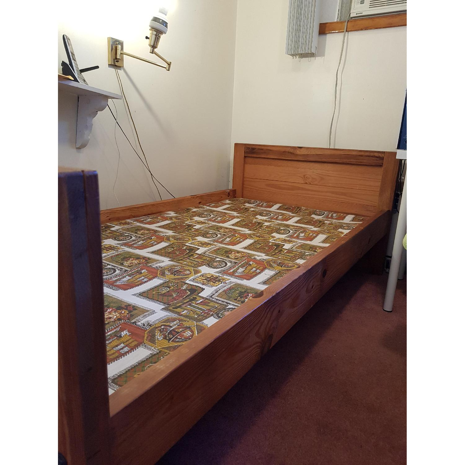 Solid Wood Twin Bed Frame - image-4