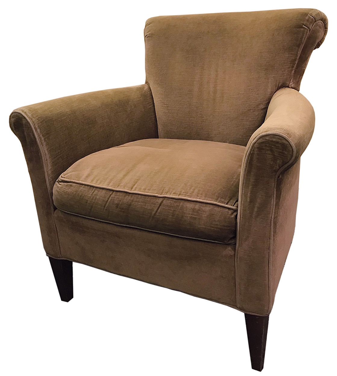 Crate & Barrel Velvet Club Chair