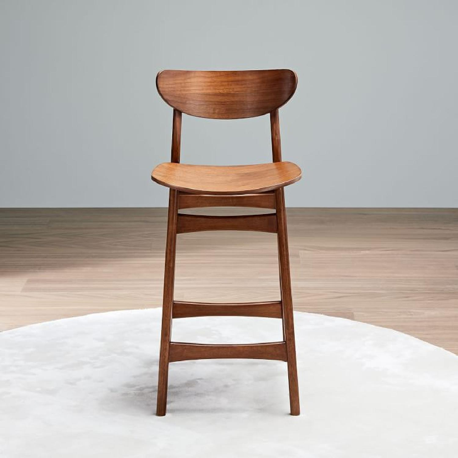 West Elm Classic Cafe Walnut Counter Stool - image-3