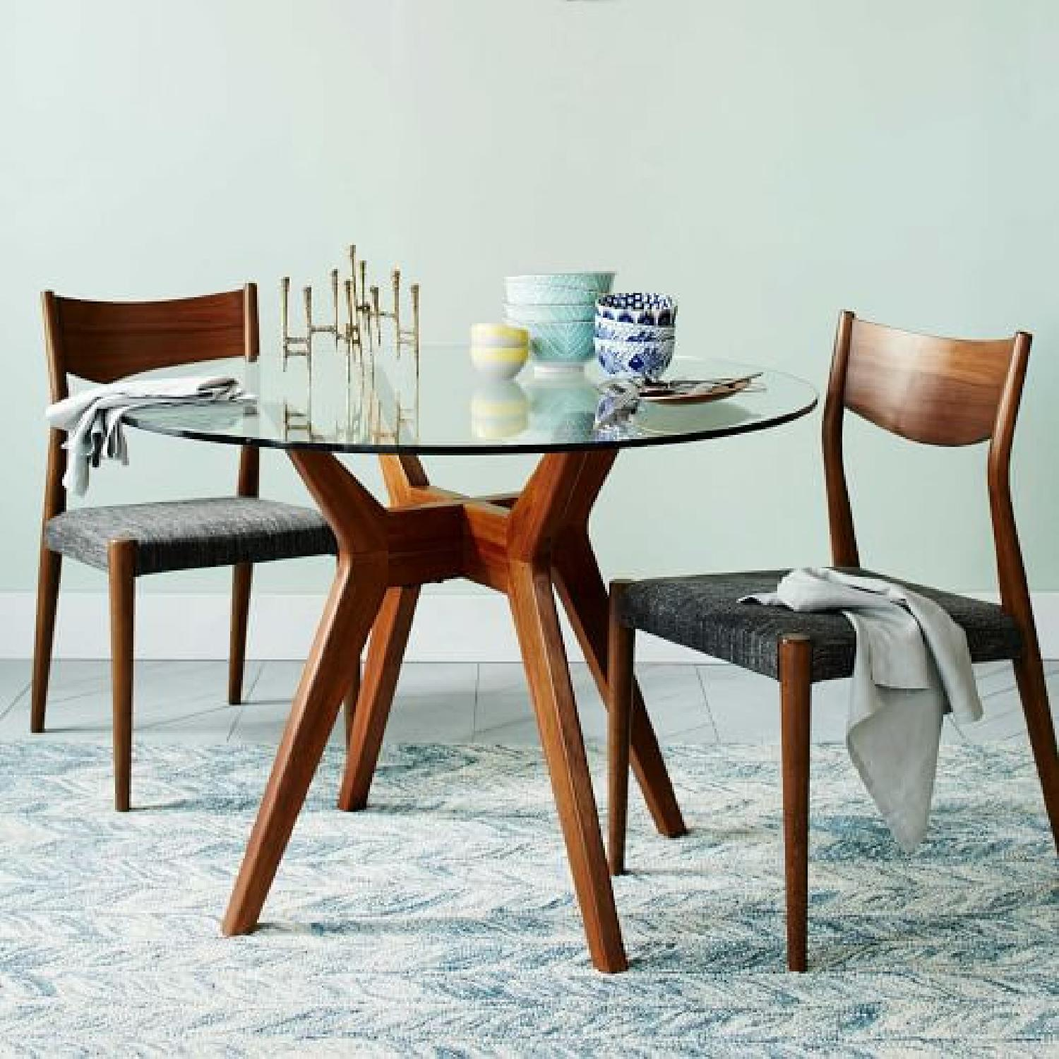 West Elm Classic Cafe Walnut Counter Stool - image-1