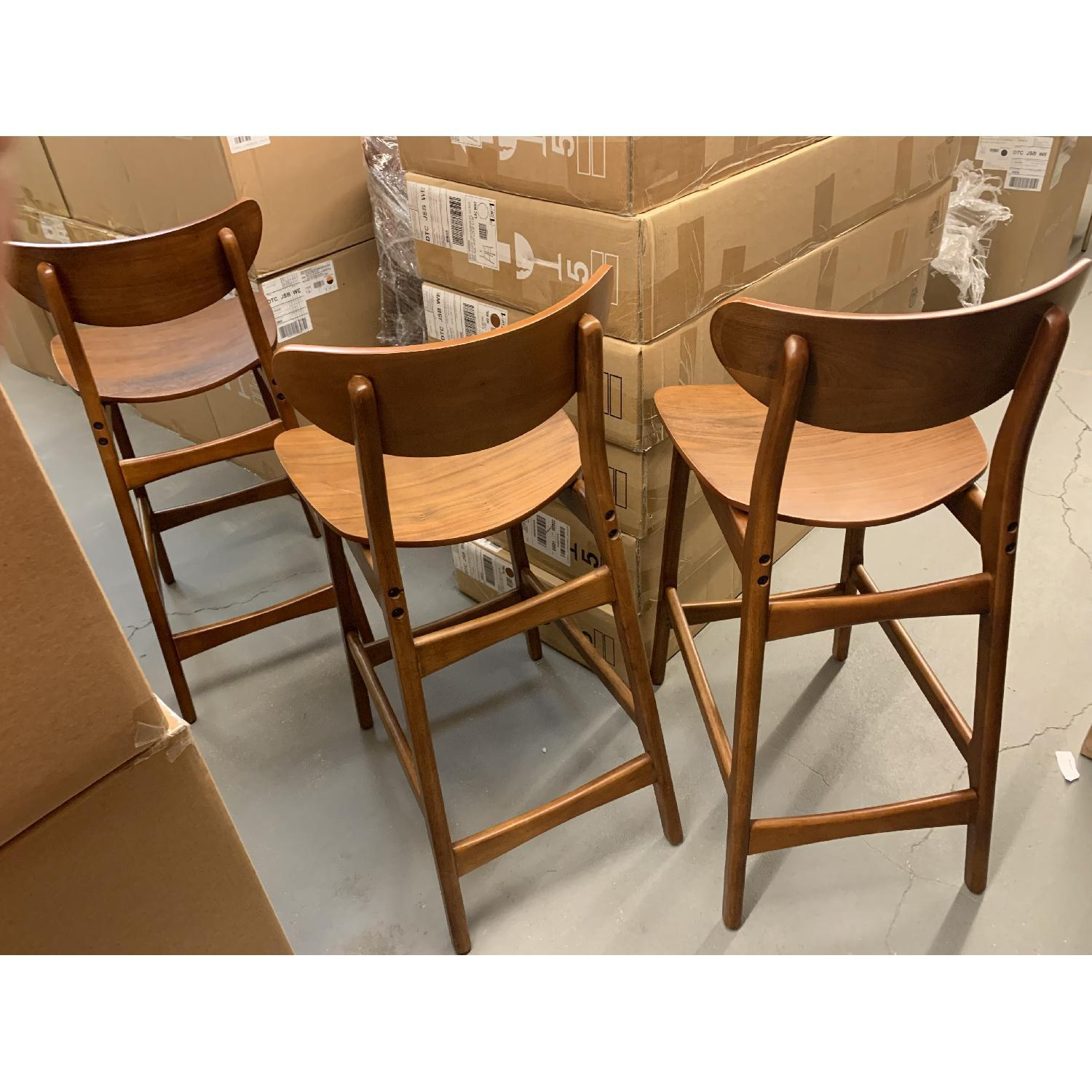 West Elm Classic Cafe Walnut Counter Stool - image-5