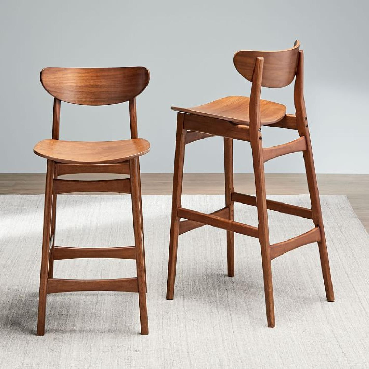 West Elm Classic Cafe Walnut Counter Stool - image-7