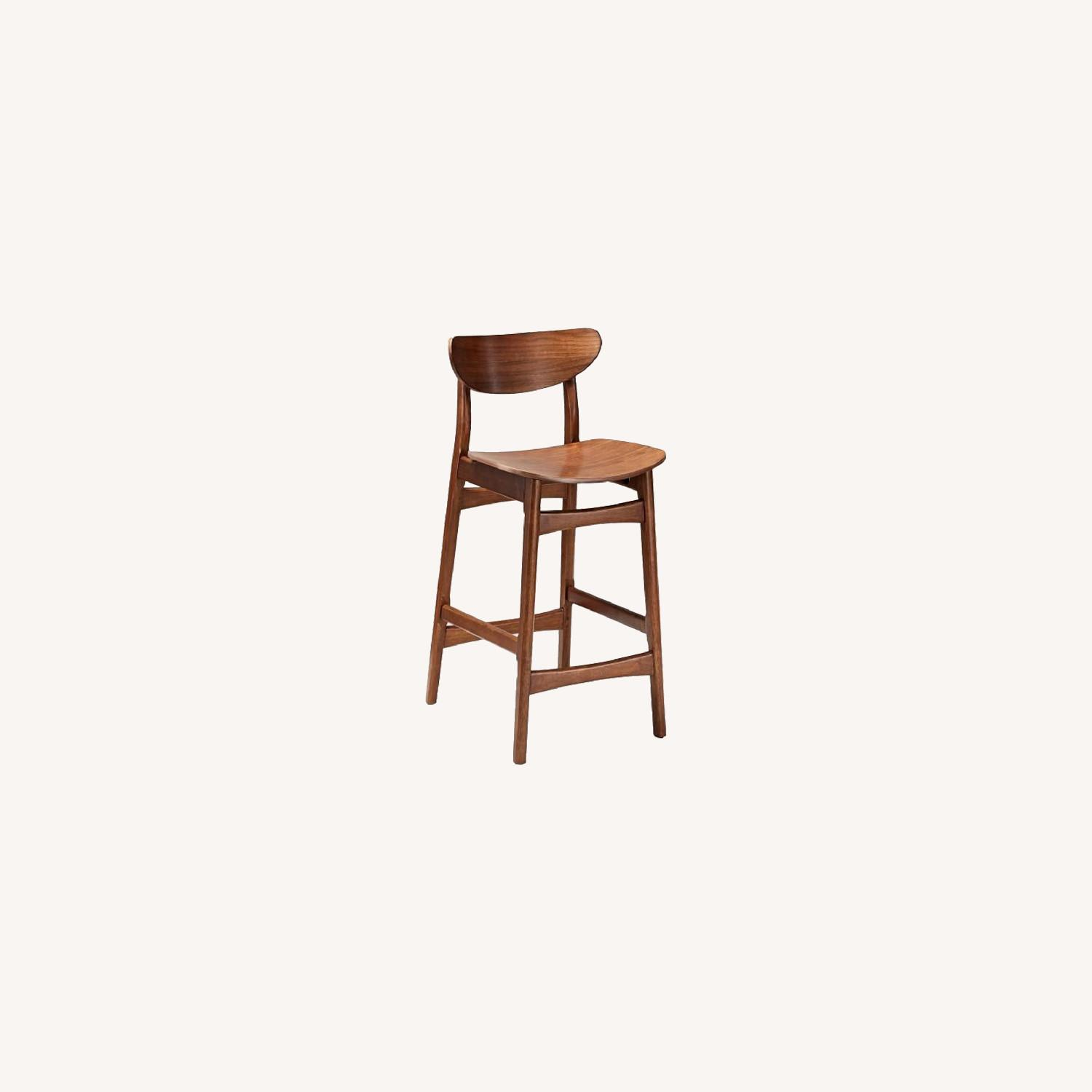 West Elm Classic Cafe Walnut Counter Stool - image-0