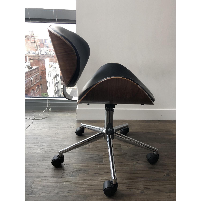 Black Faux Leather Desk Chair - image-3
