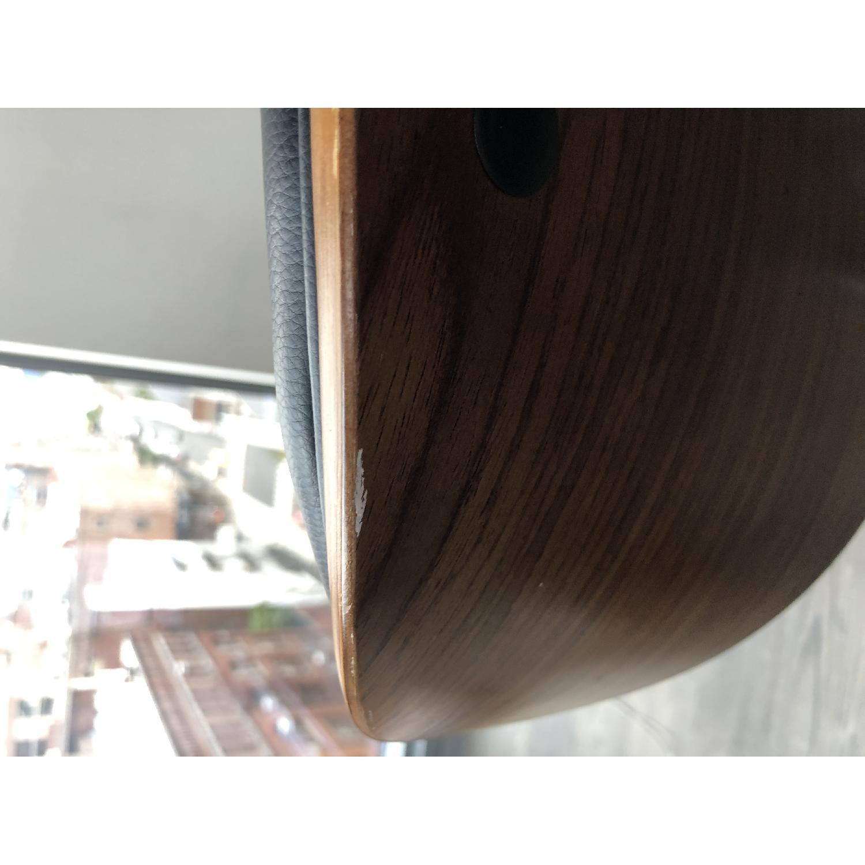 Black Faux Leather Desk Chair - image-6