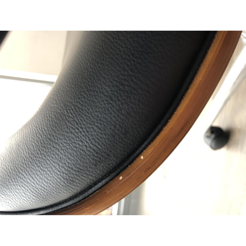 Black Faux Leather Desk Chair - image-5