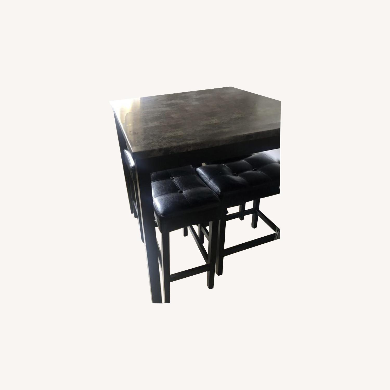 Black Pub Height Table w/ 2 Stools