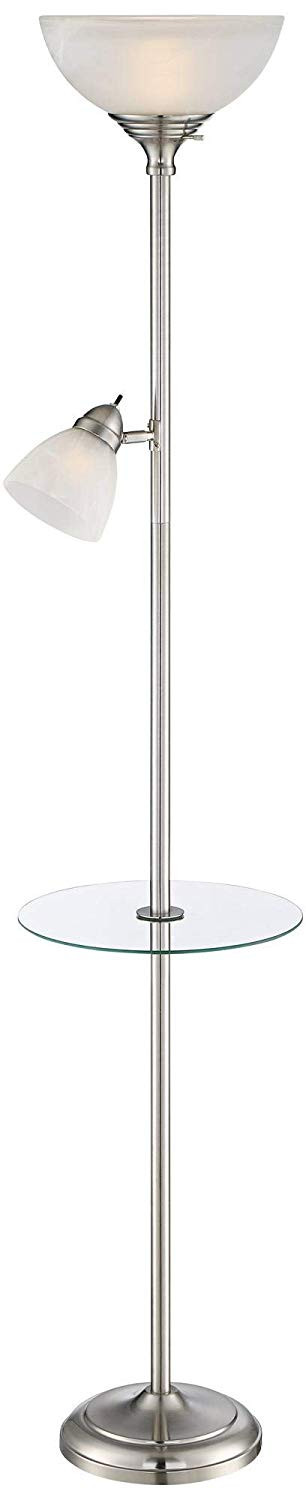 Torchiere Floor Lamp w/ Table & Reading Light