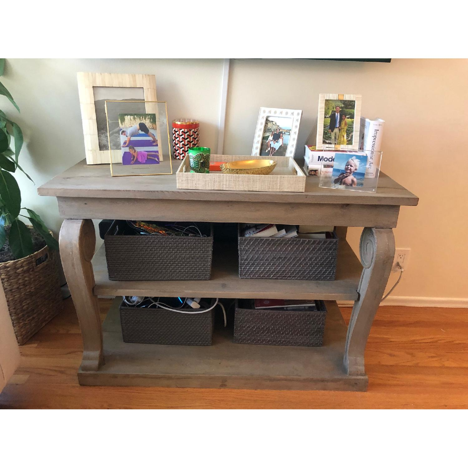 Washed Gray Wood Console Table - image-2